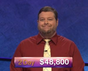 Dave Mattingly, today's Jeopardy! winner (for the July 23, 2018 episode.)