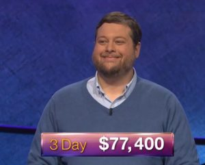 Dave Mattingly, today's Jeopardy! winner (for the July 24, 2018 game.)
