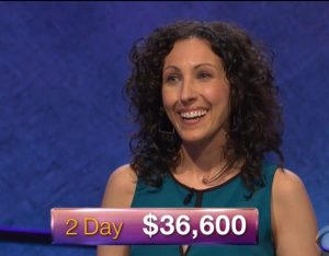 Michelle Cabral, today's Jeopardy! winner (for the July 13, 2018 game.)
