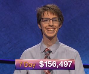 Ryan Fenster, today's Jeopardy! winner (for the July 19, 2018 episode.)