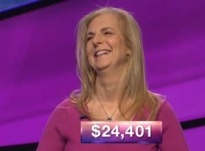 Suzanne Koppelman, today's Jeopardy! winner (for the July 2, 2018 game.)