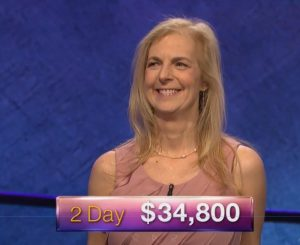 Suzanne Koppelman, today's Jeopardy! winner (for the July 3, 2018 episode.)