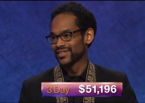 Wes Hazard, today's Jeopardy! winner (for the July 11, 2018 game.)