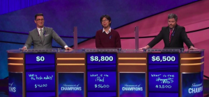 Final Jeopardy! scores from the August 9, 2018 game.