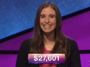 Evelyn Rubin, today's Jeopardy! winner (for the September 26, 2018 episode.)