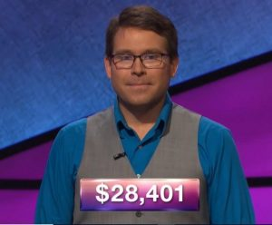 Kyle Jones, today's Jeopardy! winner (for the September 12, 2018 episode.)