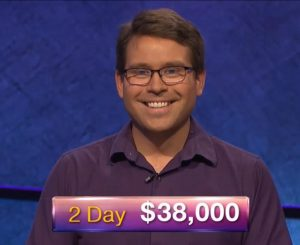 Kyle Jones, today's Jeopardy! winner (for the September 13, 2018 episode.)