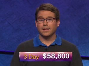 Kyle Jones, today's Jeopardy! winner (for the September 14, 2018 game.)