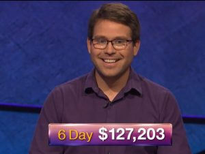 Kyle Jones, today's Jeopardy! winner (for the September 19, 2018 episode.)