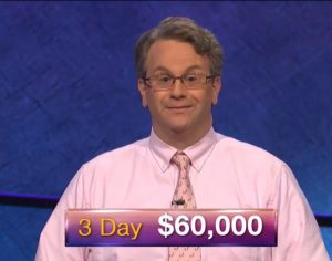 Rick Terpstra, today's Jeopardy! winner (for the September 10, 2018 episode.)