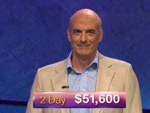 Alan Dunn, today's Jeopardy! winner (for the October 15, 2018 episode.)