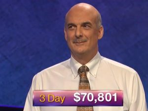 Alan Dunn, today's Jeopardy! winner (for the October 16, 2018 game.)