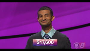 Dhruv Srinivasachar, today's Jeopardy! winner (for the October 25, 2018 game.)