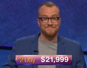 Doug Dodson, today's Jeopardy! winner (for the October 2, 2018 game.)