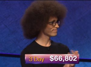 Erik Agard, today's Jeopardy! winner (for the October 23, 2018 game.)