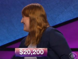 Hannah McIntyre, today's Jeopardy winner (for the October 24, 2018 episode.)