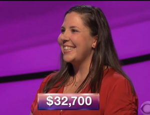 Sara Butner, today's Jeopardy! winner (for the October 4, 2018 episode.)