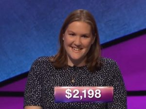 Tori Campbell, today's Jeopardy! winner (for the October 26, 2018 game.)