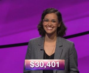 Adriana Ciccone, today's Jeopardy! winner (for the November 28, 2018 game.)