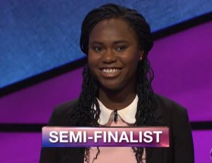 Audrey Satchivi, today's Jeopardy! winner (for the November 9, 2018 game.)