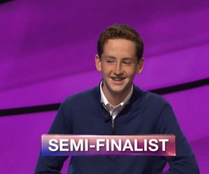 Caleb Richmond, today's Jeopardy! winner (for the November 8, 2018 game.)
