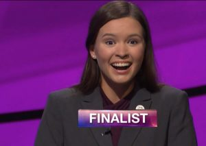 Claire Sattler, today's Jeopardy! winner (for the August 5, 2019 game.)