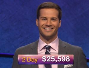 Dylan Hamilton, today's Jeopardy! winner (for the November 27, 2018 game.)