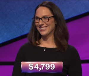 Elizabeth Goss, today's Jeopardy! winner (for the November 30, 2018 game.)