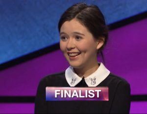 Emma Arnold, today's Jeopardy! winner (for the November 16, 2018 game.)