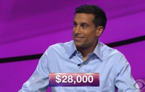 J Cheema, today's Jeopardy! winner (for the November 23, 2018 game.)
