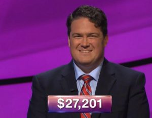 Jonathan Greenan, today's Jeopardy! winner (for the November 2, 2018 game.)