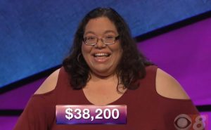 Mary Ann Borer, today's Jeopardy! winner (for the November 5, 2018 game.)