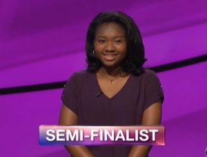 Maya Wright, today's Jeopardy! winner (for the November 7, 2018 game.)