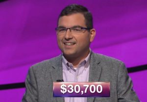 Charbel Barakat, today's Jeopardy! winner (for the December 24, 2018 game.)