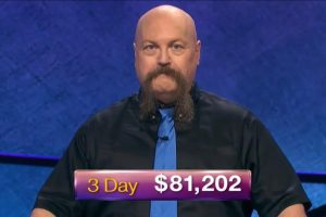 Dave Leffler, today's Jeopardy! winner (for the December 5, 2018 game.)