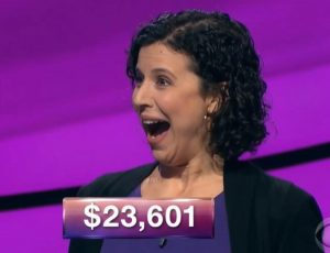 Elana Schor, today's Jeopardy! winner (for the December 12, 2018 episode.)