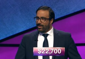 Faris Alikhan, today's Jeopardy! winner (for the December 13, 2018 game.)
