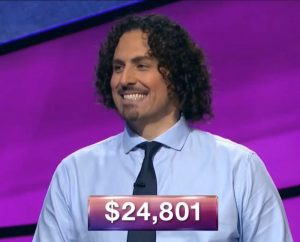 Francesco Caporusso, today's Jeopardy! winner (for the December 10, 2018 game.)