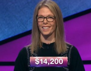 Jackie Fuchs, today's Jeopardy! winner (for the December 14, 2018 game.)
