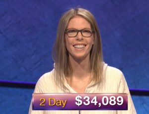 Jackie Fuchs, today's Jeopardy! winner (for the December 17, 2018 game.)