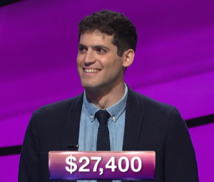 James Rodrigues, today's Jeopardy! winner (for the December 28, 2018 game.)
