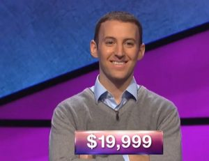 Jon Barber, today's Jeopardy! winner (for the December 26, 2018 game.)