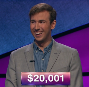 Kevin Patterson, today's Jeopardy! winner (for the December 31, 2018 game.)