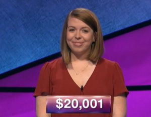 Nicole Cocklin, today's Jeopardy! winner (for the December 11, 2018 game.)