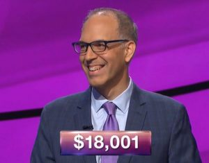 Richard Koehler, today's Jeopardy! winner (for the December 25, 2018 game.)
