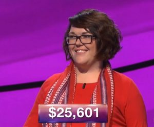Anneke Garcia, today's Jeopardy! winner (for the January 10, 2019 game.)