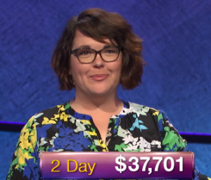 Anneke Garcia, today's Jeopardy! winner (for the January 11, 2019 game.)
