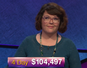 Anneke Garcia, today's Jeopardy! winner (for the January 15, 2019 game.)