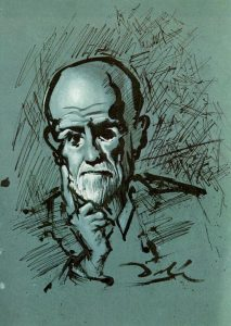 A portrait by Salvador Dali of Sigmund Freud, the subject of Final Jeopardy! on January 11, 2019.