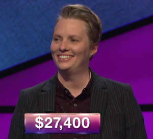 Haley Zapal, today's Jeopardy! winner (for the January 22, 2019 game.)